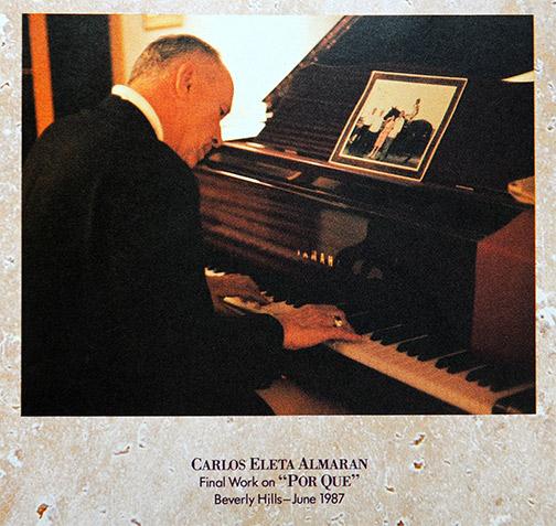 Carlos Eleta Almaran composing Por Que at Vanina's home - Los Angeles