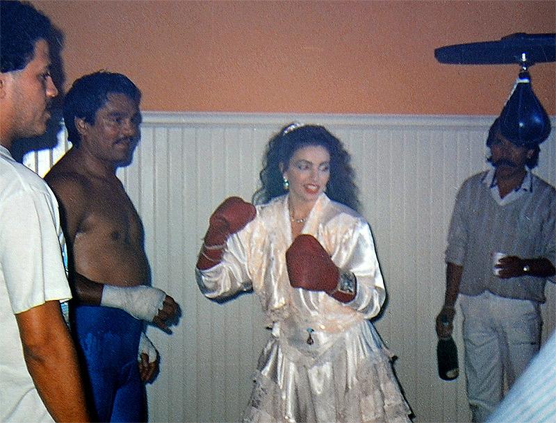 Vanina Aronica & Roberto Duran- Shooting of PorQue's video - Los Angeles