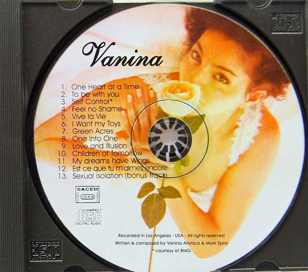Vanina Aronica- CD album VANINA – Los Angeles