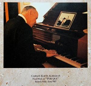 Carlos Eleta Almaran composing Por Que at Vanina's home – Los Angeles