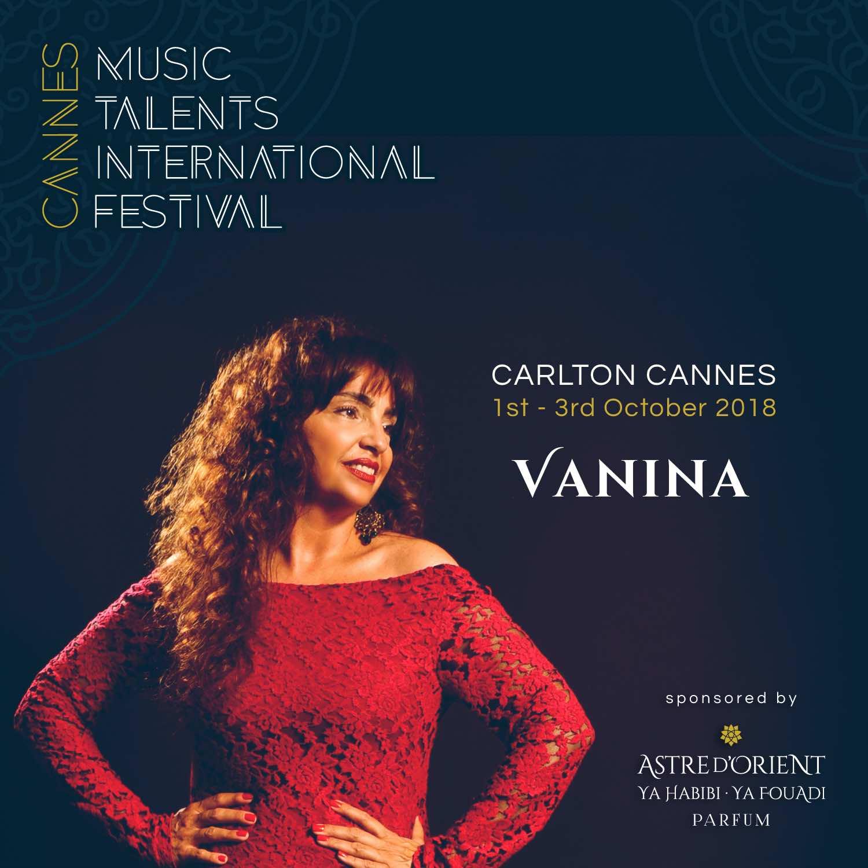 Photo Vanina Music Talents International Festival Cannes 2018