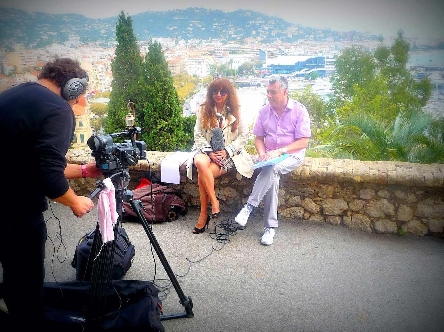 Photo Vanina sur le tournage film TV pour WE Love Cannes TV